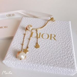 New!Authentic Dior Single Charm Pearl Earrings